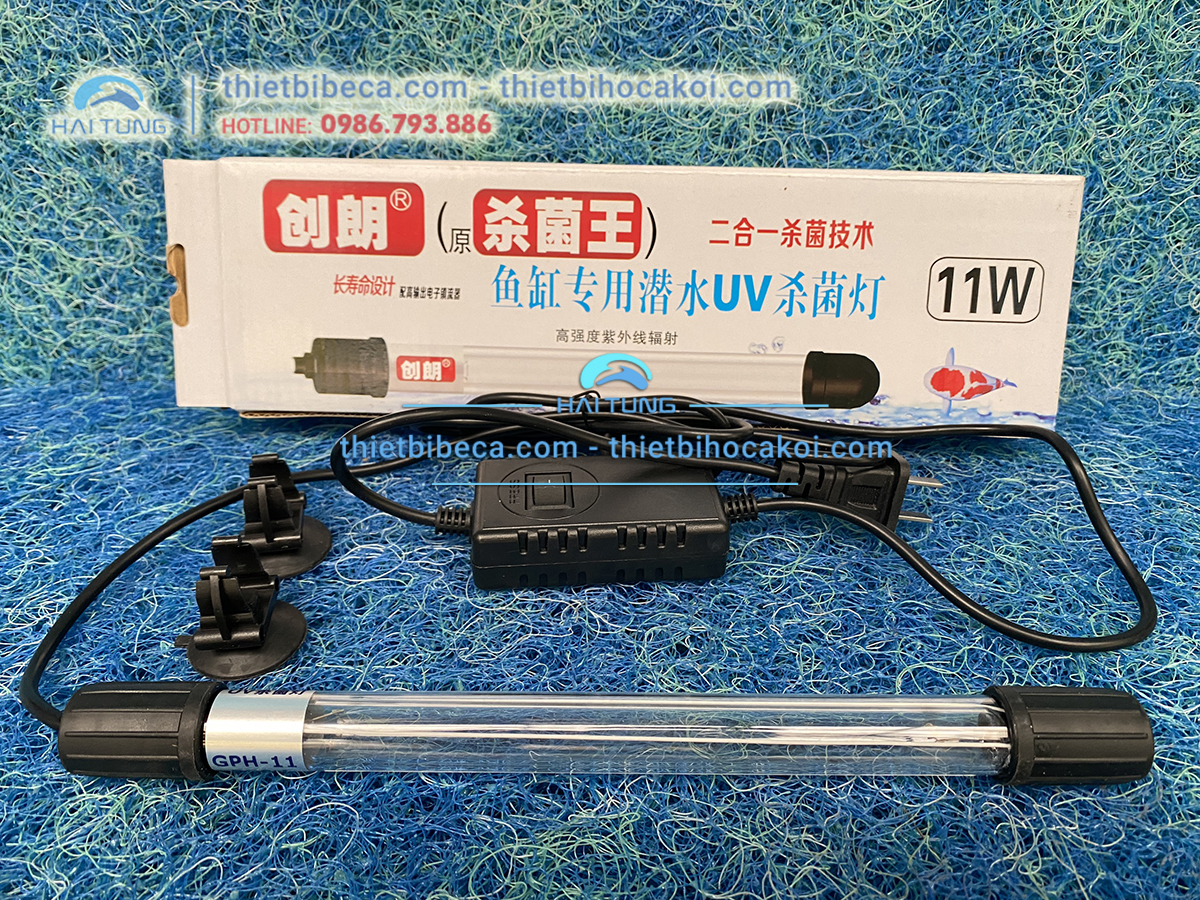 Đèn UVC 3D diệt tảo hồ Koi 11w
