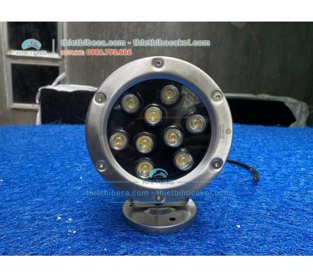 Đèn pha led đổi màu 9W đặt âm nước cho hồ Koi