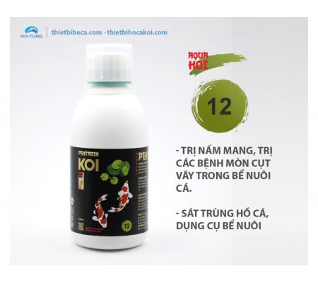 số 12 Trị Nấm Mang, mục vây, mục đuôi, sát khuẩn hồ Koi PENTADIN (AquaKoi)