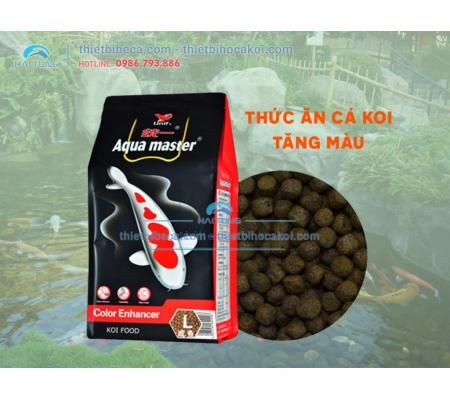 Thức Ăn Cá Koi Tăng Màu Aquamaster color Size L 5kg